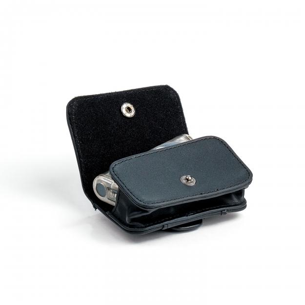 Чехол черный кожаный для мужчин горизонтальный АСС-803ВК
